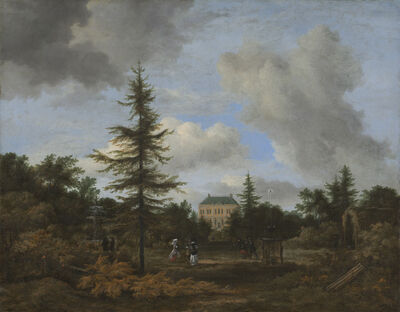 Jacob van Ruisdael, 'Country House in a Park', ca. 1675