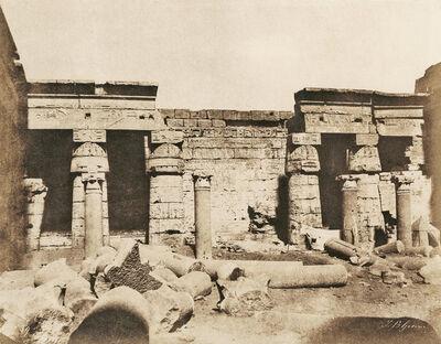 John Beasley Greene, 'Thèbes: Medinet-Habou, Palais de Ramses, 2nd Cour Face Nord, Egypt', 1854/1855