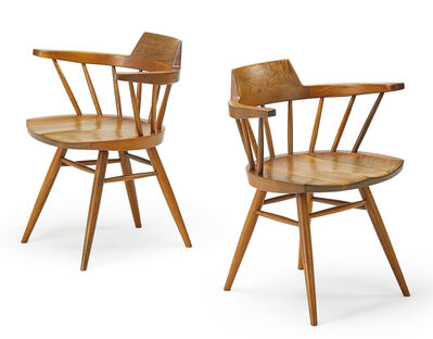 George Nakashima, 'Pair of Captain's chairs, New Hope, PA'