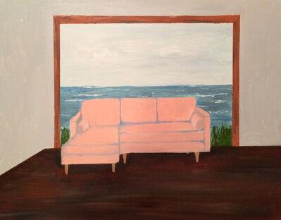Polly Shindler, 'Pink Chair in Ocean', 2017