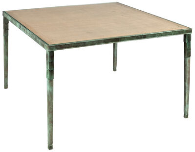 Louis Cane, 'Patinated-Bronze and Oak Dining Table Caillebotis', 1993