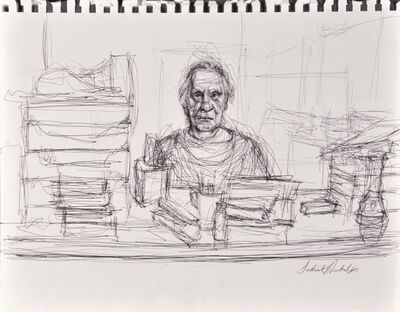 Sedrick Huckaby, 'untitled (man at a desk)', 2012