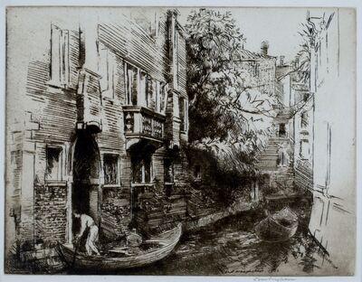Donald Shaw MacLaughlan, 'The Garden Canal,  Venice', 1922