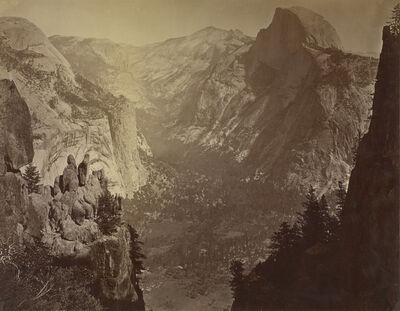 Carleton E. Watkins, 'The Domes from Glacier Rock', 1880