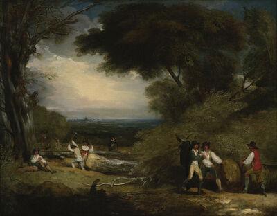 Benjamin West, 'Woodcutters in Windsor Park', 1795