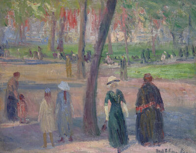 William James Glackens, 'Washington Square – The Green Dress', ca. 1910