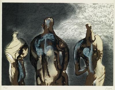 Henry Moore, 'Figures with Sky Background II', 1981
