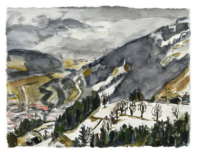 Christopher Lehmpfuhl, 'Schladming im Regen', 2020