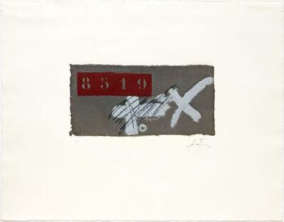 Antoni Tàpies, 'Creu i ics', 1979