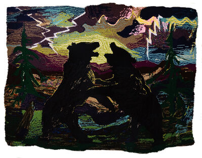 Johnny Defeo, 'Bears Fighting in a Thunderstorm', 2019