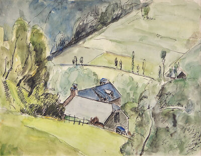 Mildred Bendall, 'Hillside View', ca. 1920