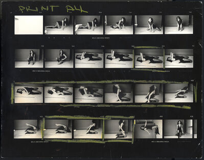 "Norman Seeff, 'Carly Simon, ""Playing Possum"" Album Cover (Contact Sheet)'"