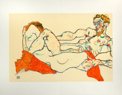 Egon Schiele, 'Reclining Male and Female Nude, Entwined', 2007