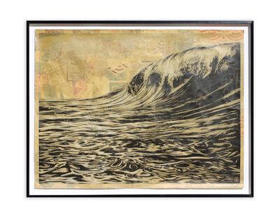 Shepard Fairey, 'Dark Wave (AP / Hand Painted Multiple)', 2010