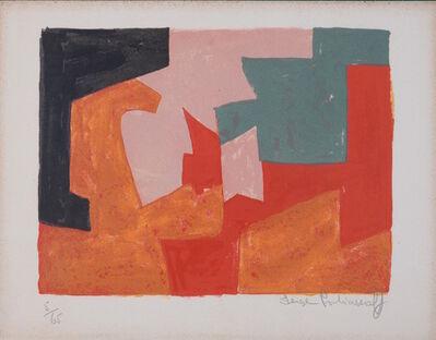 Serge Poliakoff, 'Composition orange, noire, rose, verte et rouge', 1959