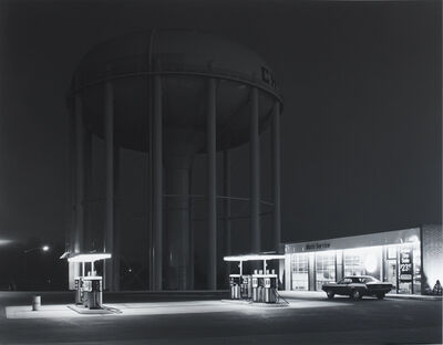 George Tice, 'Petit's Mobil Station, Cherry Hill, N.J.', 1974