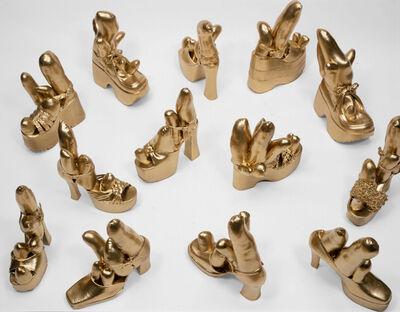 Yayoi Kusama, 'Gold Shoes', 2000