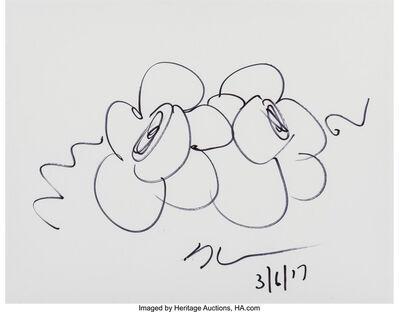 Jeff Koons, 'Flower Sketch', 2017