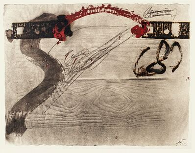 Antoni Tàpies, 'Impression of wood', 1982