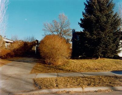 Stephen Shore, 'North-Black Avenue, Bozeman, Montana, January 16, 1981', 1981