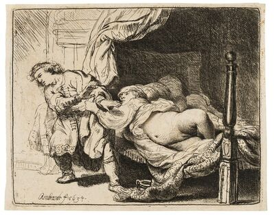 Rembrandt van Rijn, 'Joseph and Potiphar's Wife', 1634