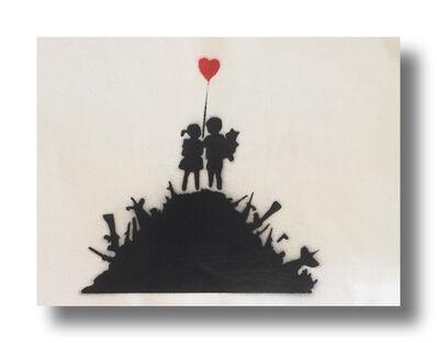 After Banksy, 'Kids on Guns', 2015