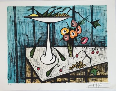 Bernard Buffet, 'Anemones et Fruits', 1984