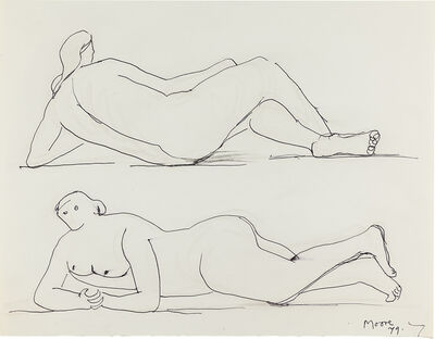 Henry Moore, 'Two Reclining Figures', 1979