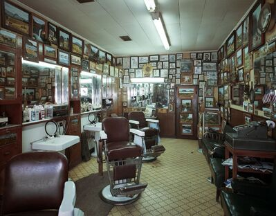 Jim Dow, 'Cactus Barbershop, US 87, Big Springs, Texas', 1980