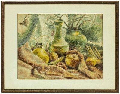 Leopold Gottlieb, 'Fruit and Vase Still Life', Early 20th Century