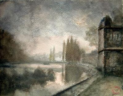 Just Becquet, 'Forest at dusk Besançon', Circa 1860's