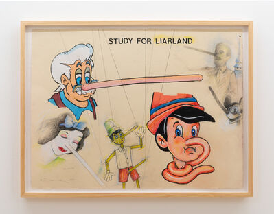Terry Allen, 'Study for LIARLAND', 2019