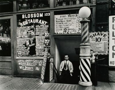 Berenice Abbott, 'Blossom Restaurant, 103 Bowery, New York', 1935