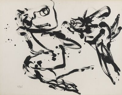 Karel Appel, 'Paris series - Boy and Bird', 1958-1959