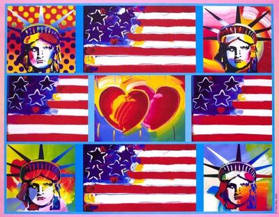Peter Max, '4 Liberty Heads', 2005