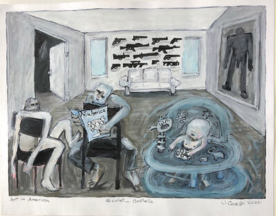Violet Costello, 'Art in America (sketch for 'Bringing Home Baby' series)', 2020