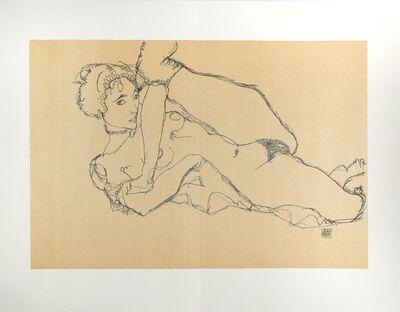Egon Schiele, 'Reclining Nude, Left Leg Raised', 2007