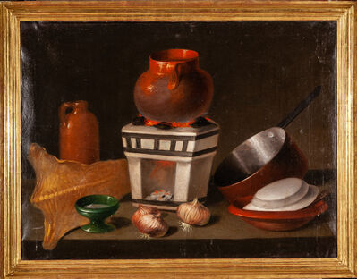 Unknown, 'Spanish School / Still life with pots', XIX