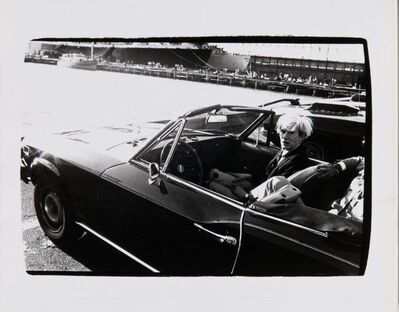 Andy Warhol, 'Andy Warhol in Convertible circa 1985', ca. circa 1985