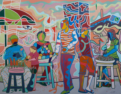 Ajarb Bernard Ategwa, 'Roadside Market', 2015