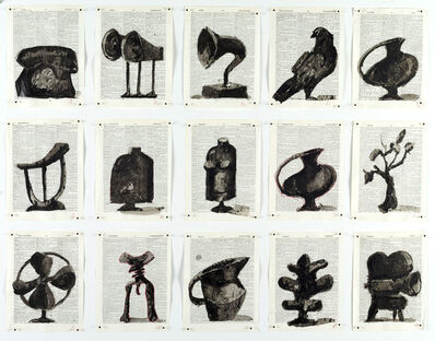 William Kentridge, 'Drawing for Waiting for the Sibyl (Glyphs)', 2019