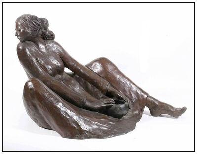 R.C. Gorman, 'R.C. Gorman Original Bronze Sculpture Winona Female Figurative Large Signed Art', 1982