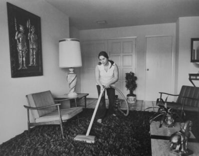 Bill Owens, 'Untitled (woman vacuuming)', 1971