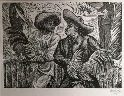 Leopoldo Mendez, ' PELEA DE GALLOS (COCKFIGHT)', 1949