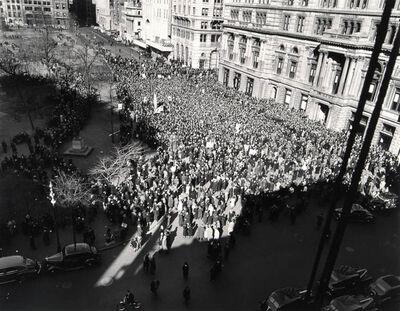 Barbara Morgan, 'Union Square, Peace Meeting', 1940/1980