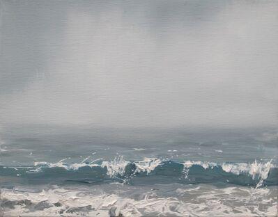 "Annie Wildey, '""Summer Roll"" Breaking Wave Sea Foam Water and Sky in Blues greens Whites', 2010-2017"
