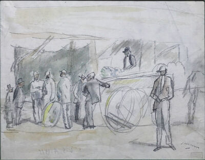 Jules Pascin, 'Scene de Marche', ca. 1920
