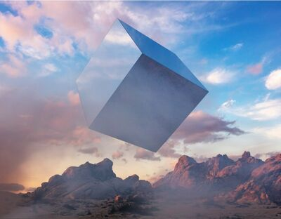 Kevin Cooley, 'Cube, Mojave Desert', 2019
