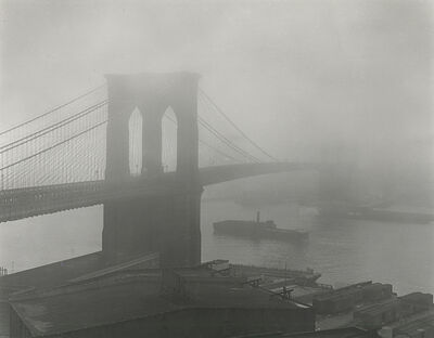 Andreas Feininger, 'Brooklyn Bridge in Fog', 1948; printed later