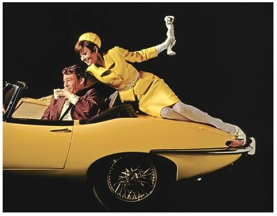 Douglas Kirkland, 'Audrey Hepburn and Peter O'Toole, on Yellow Car', 1966